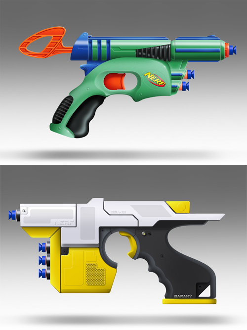 Nerf concept rendering by Stephen Barany