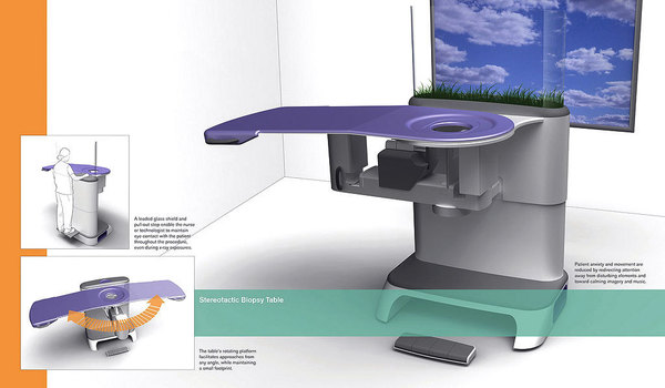 Stereotactic biopsy table by Charlotte Lux