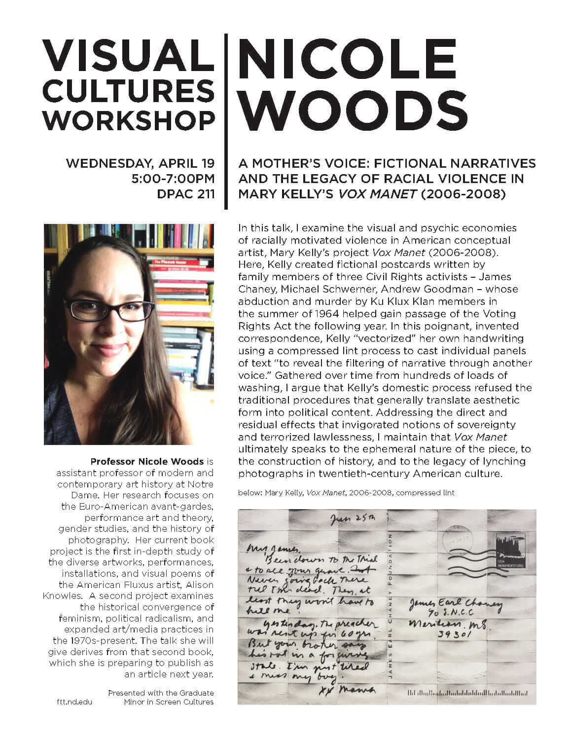 Nicole Woods - Visual Cultures Workshop