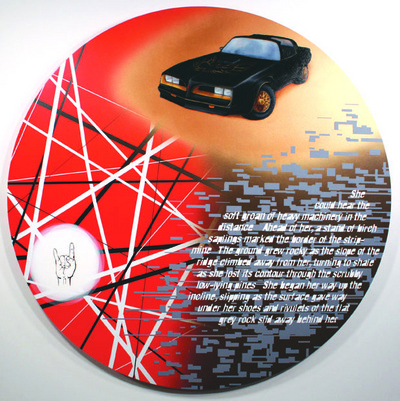 "Lahr_Works Plexi, 2010, 45"" diameter, oil and acrylic on panel"