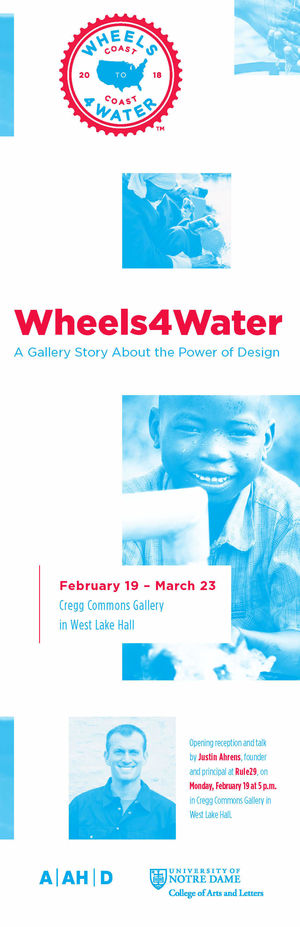 Wheels4water Show Poster