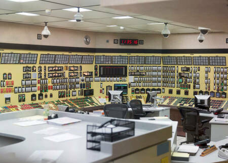 image of nuclear plant's control room taken by Abbey Hepner